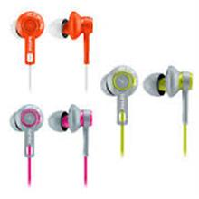 PHILIPS WIRED ACTION FIT EARPHONE (SHQ2300) LIME/ORANGE/PINK