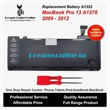 Replacement Battery A1322 MacBook Pro 13 A1278 2009 to 2012 63.5wh