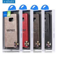 x-level Samsung Galaxy Note Fe 7 Leather Armor Back Case Casing Cover