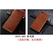 AZNS Oppo A83 leather flip case card slot wallet casing cover