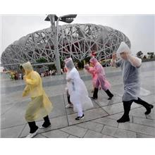 *Disposable Throwaway Raincoat^Rainwear Travel Tour Rain Coat Wear