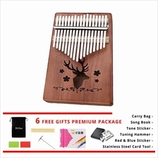 Kalimba Musical Instrument 17 Keys Wood Finger Piano Acoustic Music