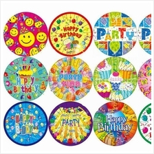 Disposable Paper Plates General Birthday Party Tableware 40pcs
