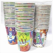 Disposable Paper Cups General Birthday Party Tableware 40pcs