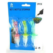 *3 Pcs Bottle ^beverage Stopper Wine juice Pourer Oil Bar Liquor Cap