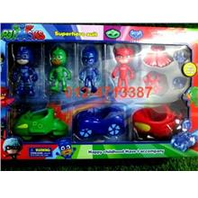 PJ Masks Figure Vehicle Play Set Toy Cartoon Doll Car Kids Gift
