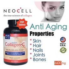 Neocell Collagen Type 1 & 3, 250 Tablets, 6000mg (Anti Aging) USA
