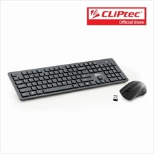 CLiPtec Wireless Multimedia Keyboard and Mouse Combo Set-RZK338 (Black))