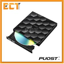 PUOST Ultra Thin Portable External Mobile 8X DVD Writer - Black/ White
