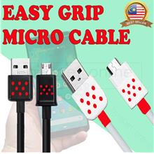 Easy-Grip Fast Charging & Data Transmission SAFE & SPEED Micro Cable