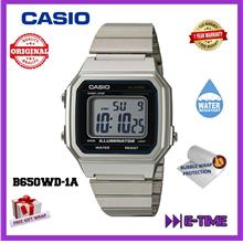 CASIO ORIGINAL B650WD-1A SILVER CLASSIC DIGITAL UNISEX WATCH