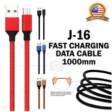 J-16 Braid Fast Charging Data Transmission Cable USB Phone Sync 1000mm