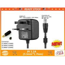 CCTV 9V 1.5A AC to DC Power Supply Adapter