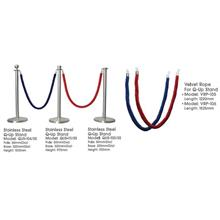 VRP105 Velvet Rope for Q-Up Stand Colour: Blue,Red Length: 1220mm 4Ft