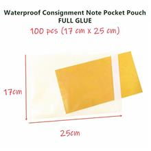 【READY STOCKMY】100PC Consignment Note Pocket Pouch FULL Glue Ad