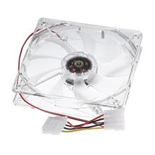 *12cm x 12cm CPU^Transparent Casing Cooling Fan Blue Light Rainbow