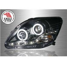 TOYOTA VIOS 2007-12 EAGLE EYES Ex LED Light DRL Head Lamp (Pair)