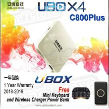Unblock Tech Ubox 4 C800Plus HD Tv Box FREE M Keyboard and Wireless