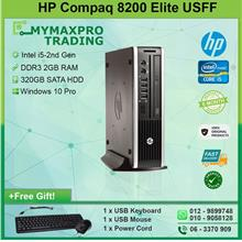 HP Compaq 8200 Elite USFF i5-2nd Gen 2GB 320GB HDD Win 7 Desktop: Best  Price in Malaysia