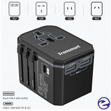 Tronsmart WCP05 Dual USB Port Universal Travel Adapter With Type C