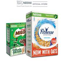 NESTLE FITNESSE Cereal 375g Free 1 Milo Cereal 170g