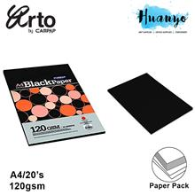 Campap Arto A4 120gsm Extra Black Paper - 20 Sheets