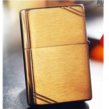 Gold Vintage Look 1937 230 with Slashes Zippo Lighter