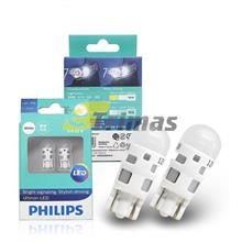 Philips LED W5W T10 Ultinon LED 6000K Cool Blue White Light Turn Signal Lamps