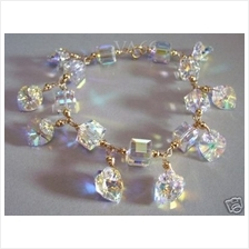 Sale Discount 10%! 14K Gold Filled Swarovski Bracelet Crystal AB Suasa
