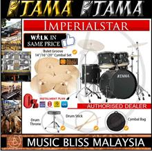 Tama Drum Tama Imperialstar Drumset w/Cymbal - 5pc - 22' - Blacked Out