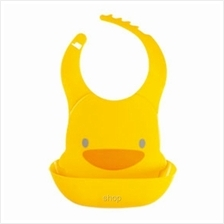 PiyoPiyo Adjustable Waterproof Bib with Food Catching Tray - 830400)