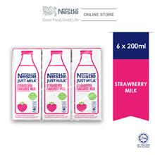 Nestle Just Milk Strawberry 6 Packs 200ml