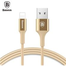 BASEUS SHINING 8 PIN CABLE CHARGING DATA CORD WITH JET METAL (LUXURY GOLD COLO