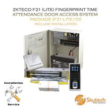 ZKTECO FINGERPRINT TIME ATTENDANCE DOOR ACCESS SYSTEM PACKAGE (F21-LIT