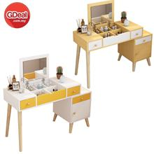 Multi-function Retractable Solid Wood Makeup Dressing Table (DT001)