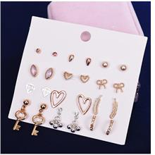 [Mine] Korean Fashion Sets of 12 pairs earring F200