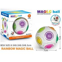 BUY 1 FREE 1.!!! Rainbow Magic Ball Magic Cube Puzzle Cube Fidget Toy