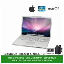 (Refurbished Notebook) Apple MacBook Pro 2006 A1211 Laptop / 15 inch Dispaly /