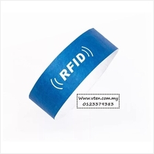 Custom made Tyvek Paper Wristband With RFID Chip Customized Logo