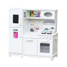 Realistic Big Pretend Play Wooden Kids Kitchen Playset