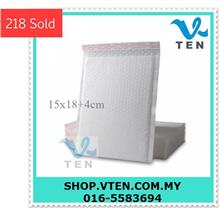 10pcs/lot White 15x18+4cm Self-Adhesive PE Envelopes Bubble Bag