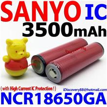 SANYO 3500mAh NCR18650GA IC Protected 18650 Li-Ion Battery Gimbal