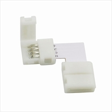 10PCS 4PIN 10MM L SHAPE SOLDERLESS CONNECTOR FOR LED 5050 RGB STRIP LI..