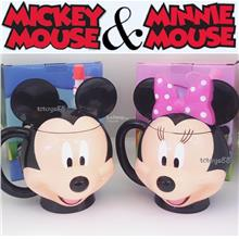 DISNEY MICKEY MOUSE DRINKING CUP MINNIE MOUSE WATER CUPS MICKEY MINNIE