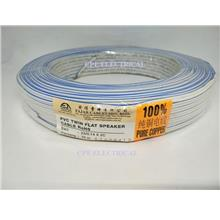 Fajar PVC Twin Flat Speaker Cable 23/0.14mm X 2C Blue/White - 70M
