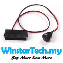 PC Server ATX PSU 24Pin 24 PIN Female Switch Button Power Cable 50cm
