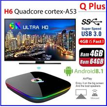 Q Plus Allwinner H6 4GB+64GB ROM Android TV BOX / IPTV / 6K