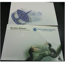 MALAYSIA New Series Banknote RM1 and RM5 with Folder SAME Number