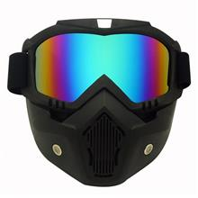 Robesbon UV400 Mask Strong Lens Motorcycle Rider Protective Sunglasses