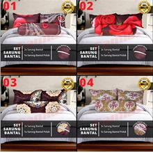 Set Sarung Bantal 3in1 Patchwork (lelong)